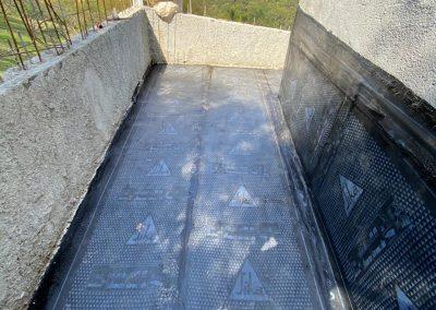 Impermeabilização em terraço com manta asfaltica