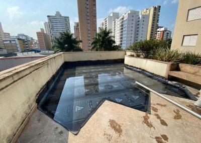 Impermeabilização de terraço com manta asfaltica