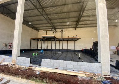Impermeabilização de mezanino com manta asfaltica