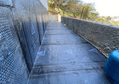 Impermeabilização de beiral com manta asfaltica