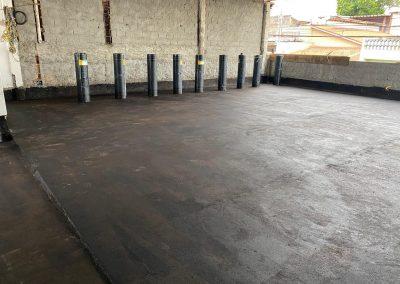 Impermeabilização em cobertura com manta asfaltica