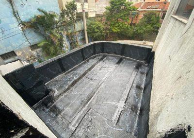 Impermeabilização de laje com manta asfaltica