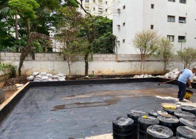 Impermeabilização manta asfaltica jardineira