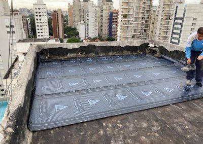 Impermeabilização de laje cobertura manta asfaltica