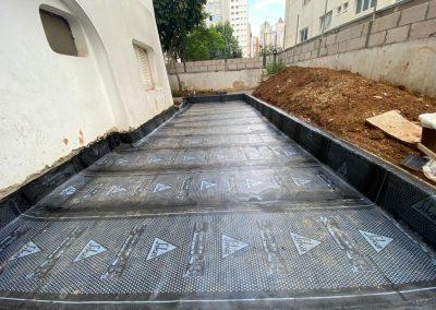 Impermeabilização de area com manta asfaltica