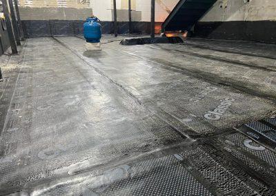 Impermeabilização em mezanino com manta asfaltica