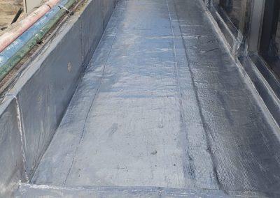 Impermeabilização com manta asfaltica aluminizada