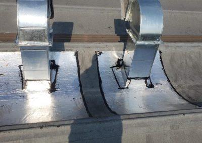 Impermeabilização com manta asfaltica aluminizada em duto