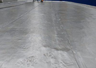 Impermeabilização com manta asfaltica aluminizada em laje terraço