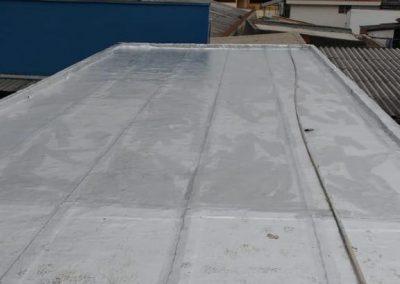 Impermeabilização em laje terraço com manta asfaltica aluminizada