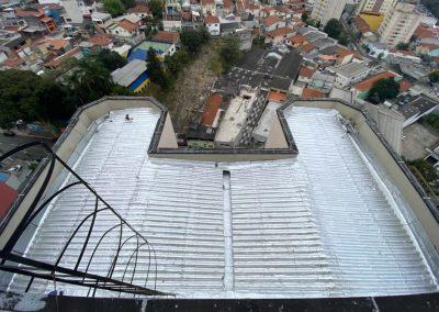 Impermeabilização de telhado com manta asfaltica aluminizada