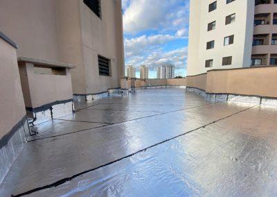Impermeabilização de laje cobertura com manta asfaltica aluminizada